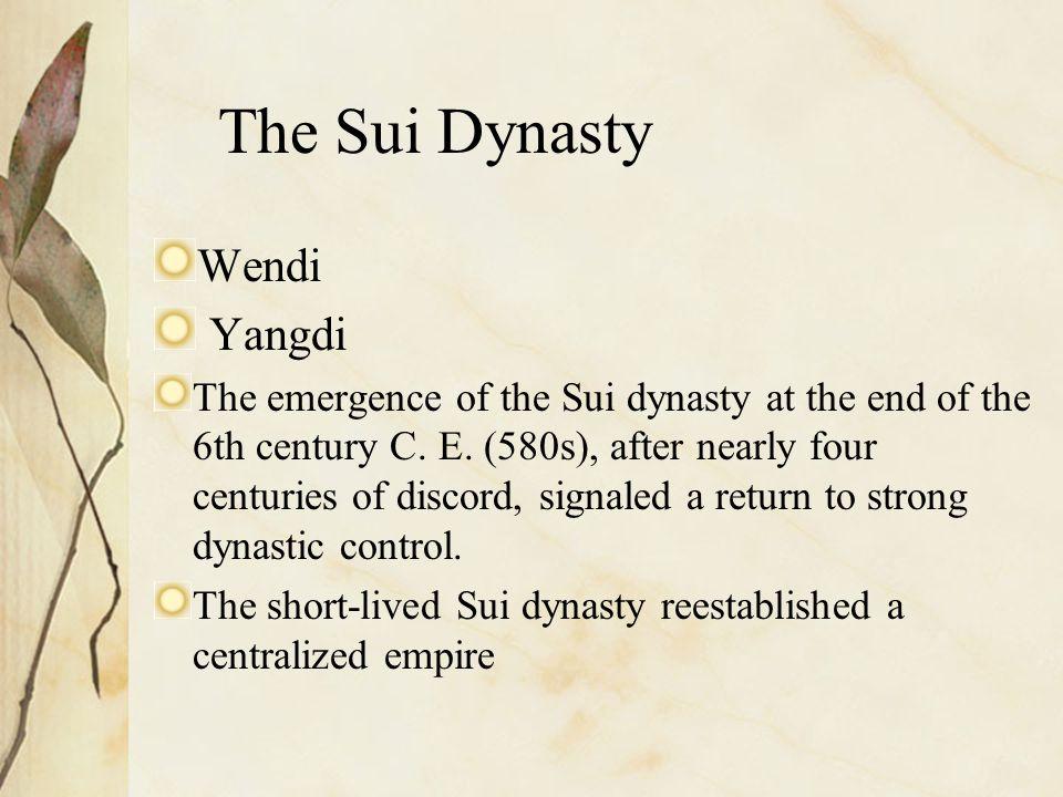 The Sui Dynasty Wendi Yangdi