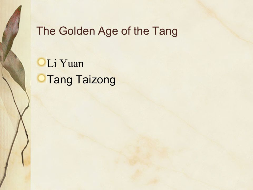 The Golden Age of the Tang
