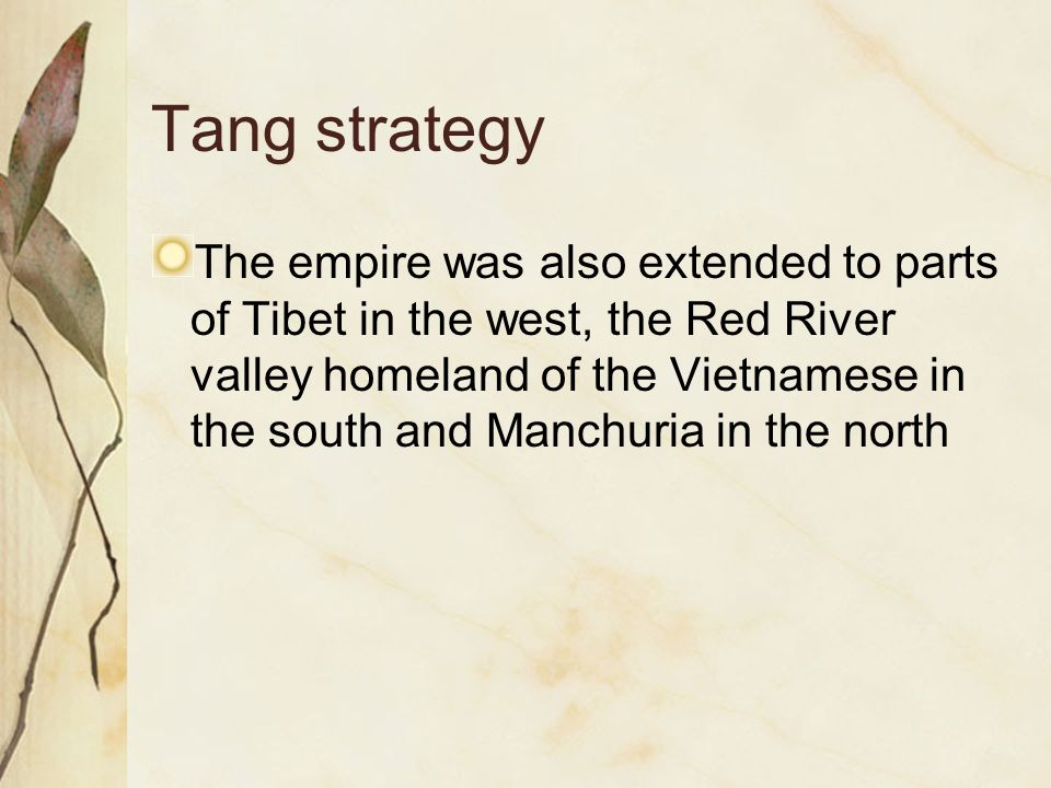 Tang strategy