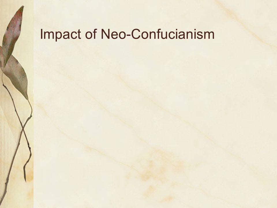 Impact of Neo-Confucianism