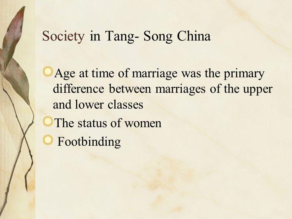 Society in Tang- Song China