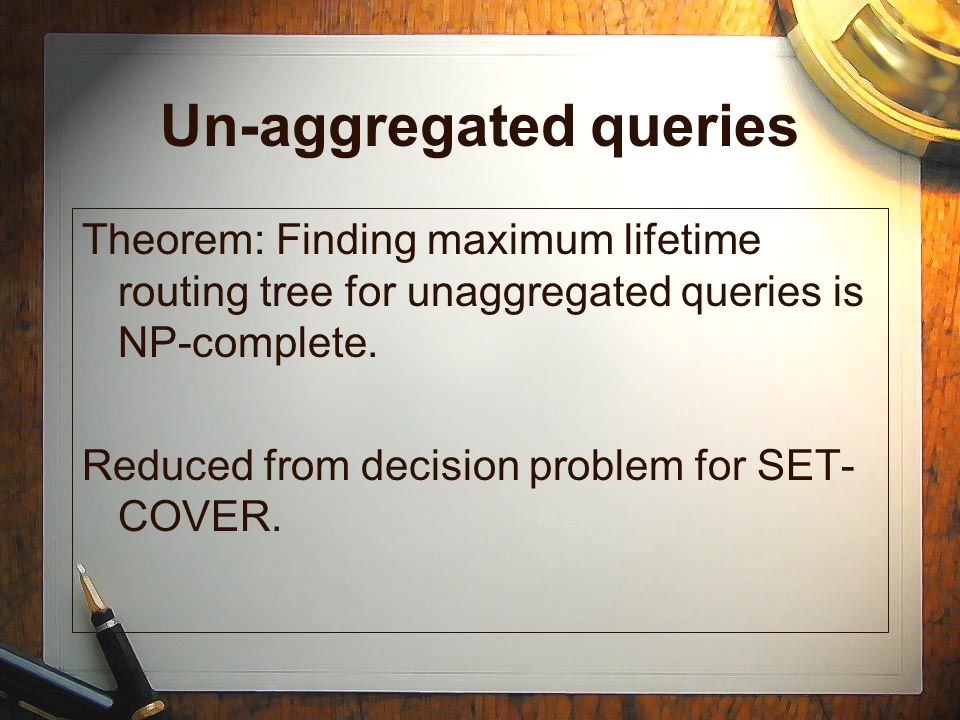 Un-aggregated queries