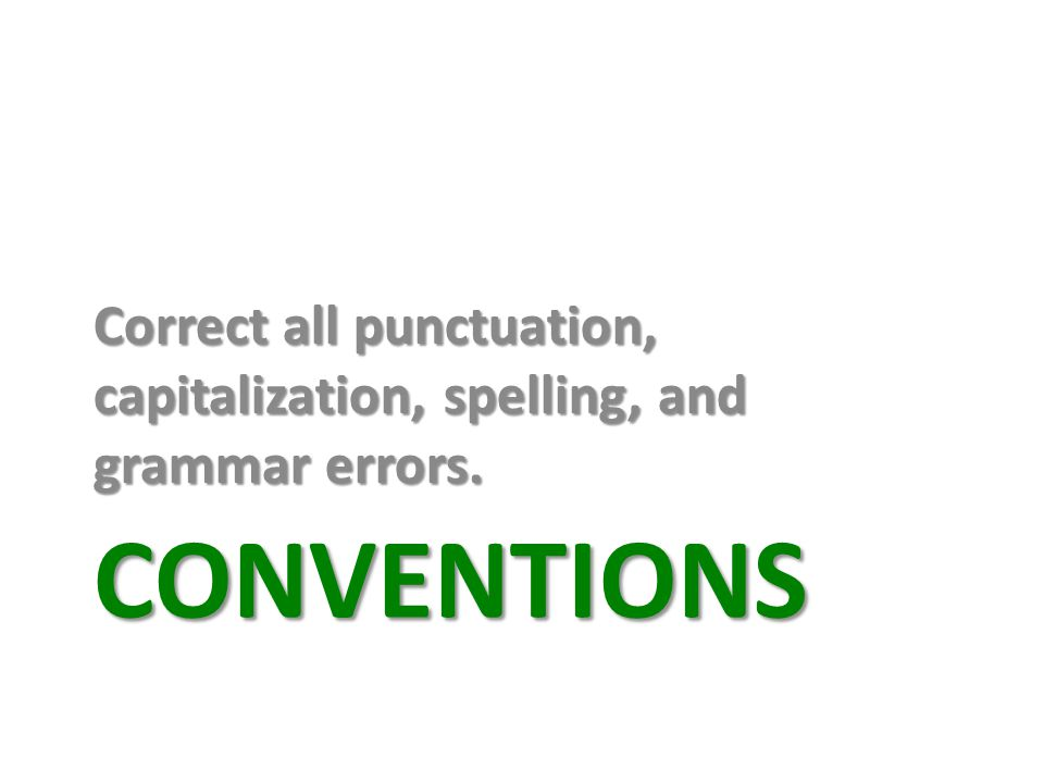 Correct all punctuation, capitalization, spelling, and grammar errors.