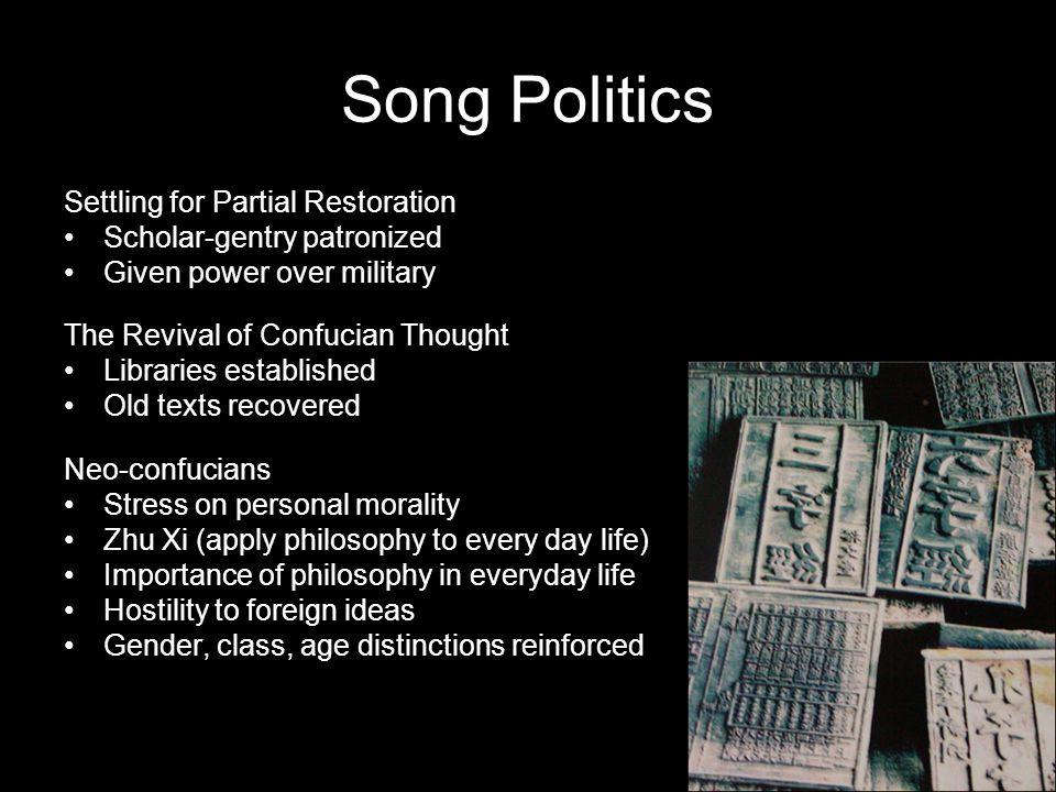 Song Politics Settling for Partial Restoration
