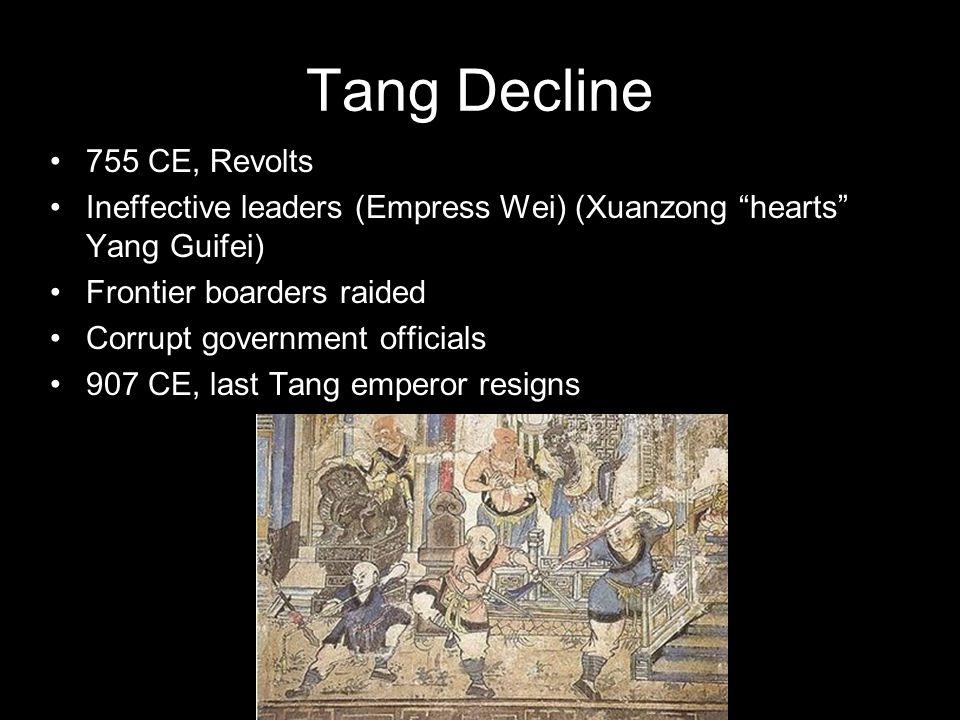 Tang Decline 755 CE, Revolts