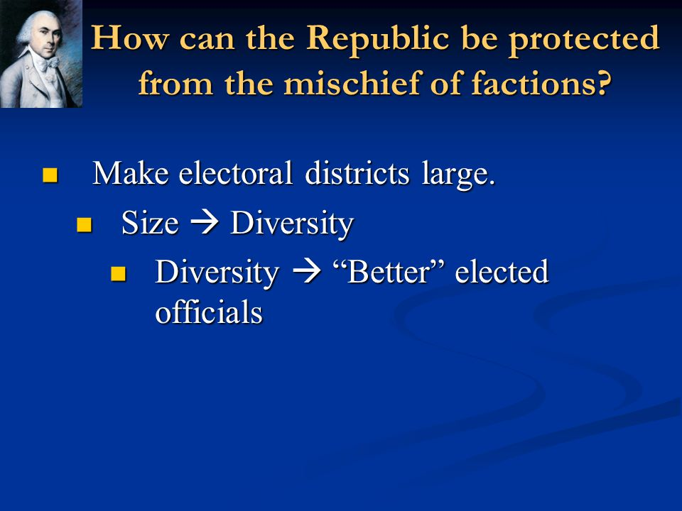 How can the Republic be protected from the mischief of factions