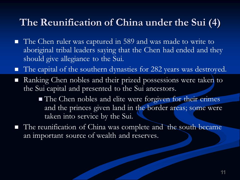 The Reunification of China under the Sui (4)