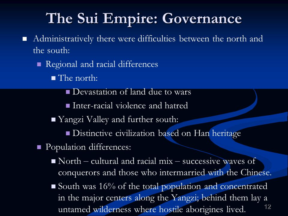 The Sui Empire: Governance