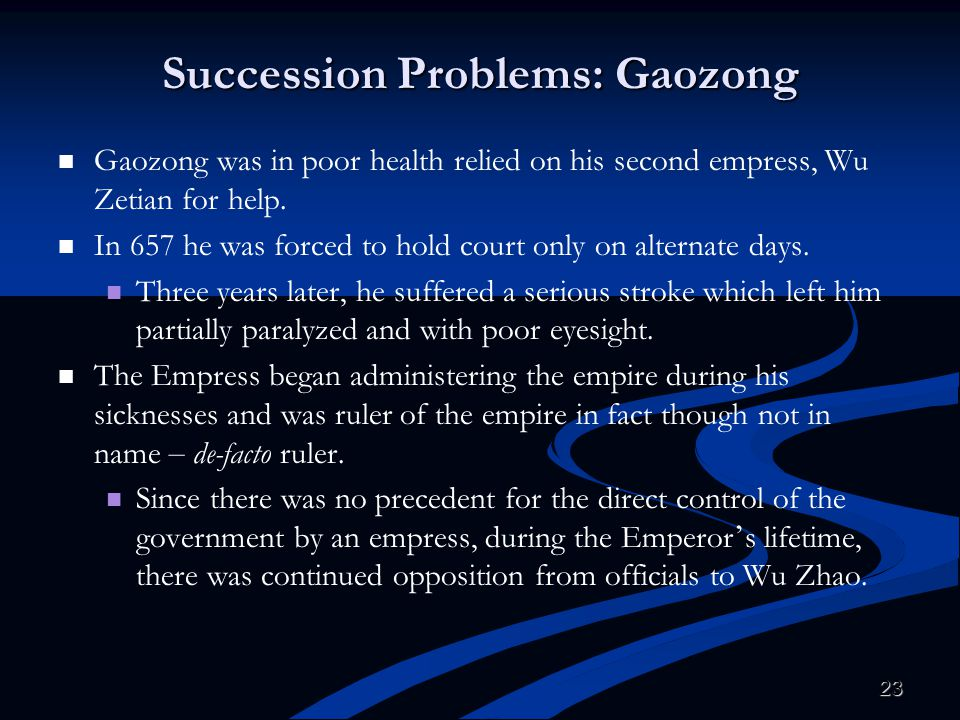 Succession Problems: Gaozong