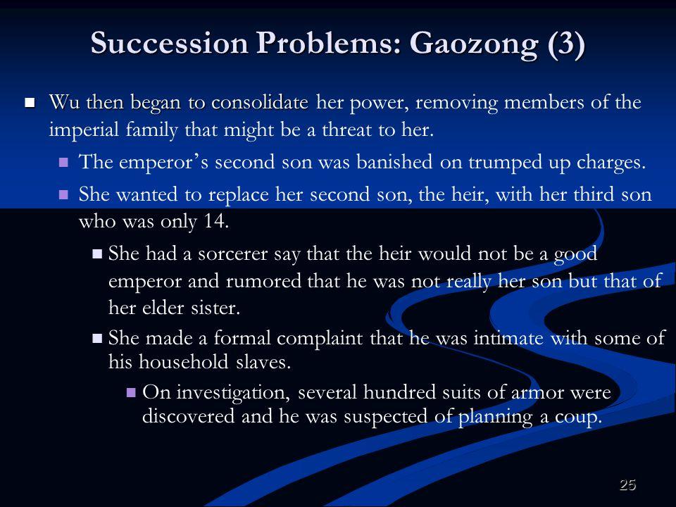 Succession Problems: Gaozong (3)