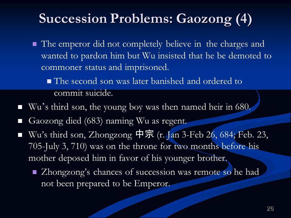 Succession Problems: Gaozong (4)