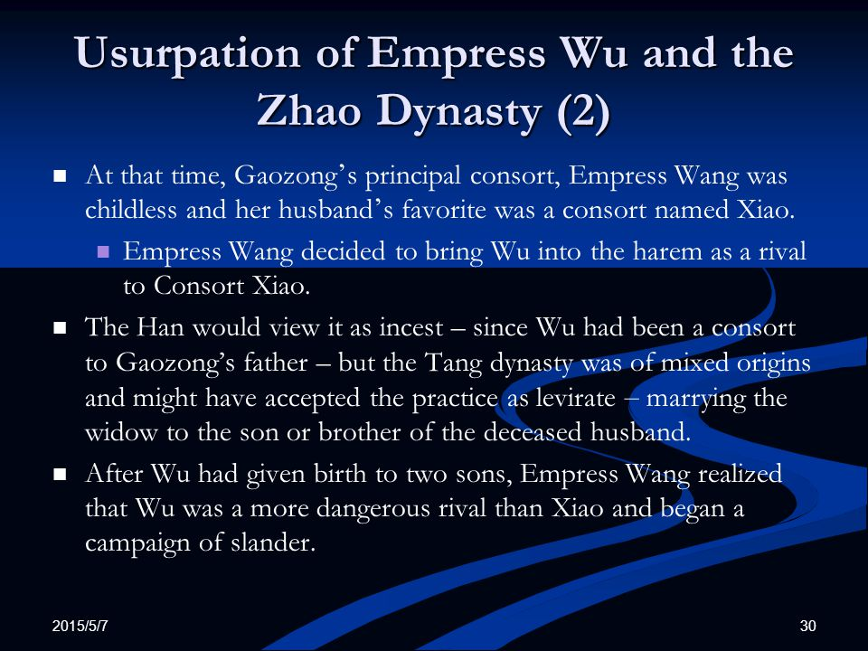 Usurpation of Empress Wu and the Zhao Dynasty (2)