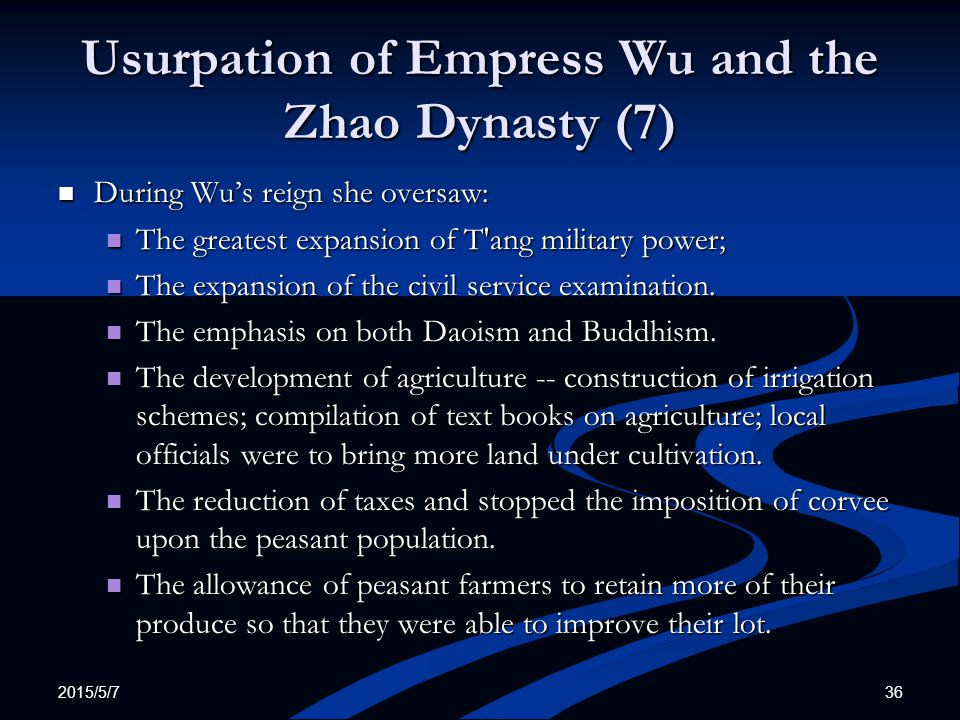 Usurpation of Empress Wu and the Zhao Dynasty (7)