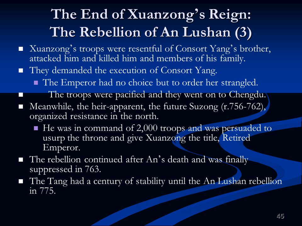 The End of Xuanzong's Reign: The Rebellion of An Lushan (3)