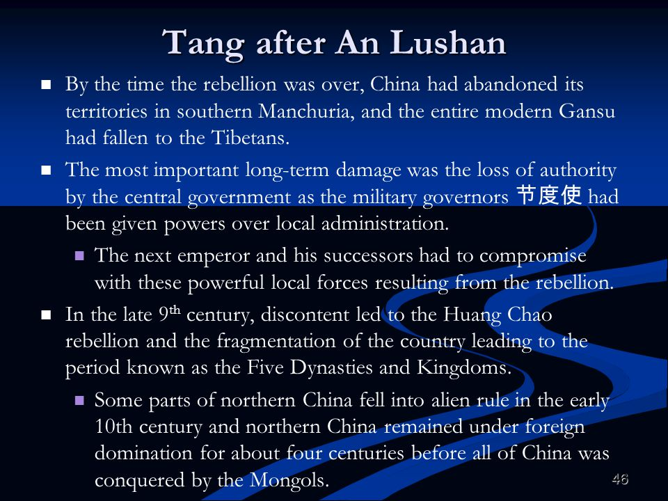 Tang after An Lushan