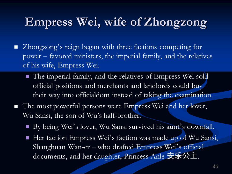 Empress Wei, wife of Zhongzong