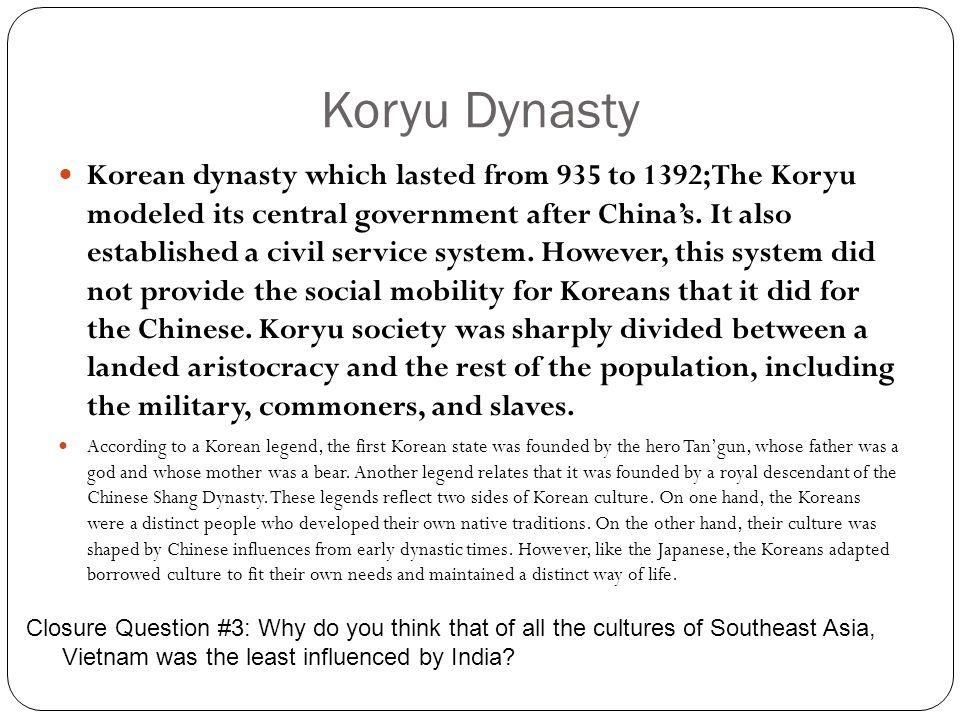 Koryu Dynasty