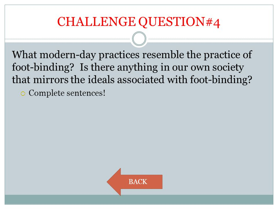 CHALLENGE QUESTION#4