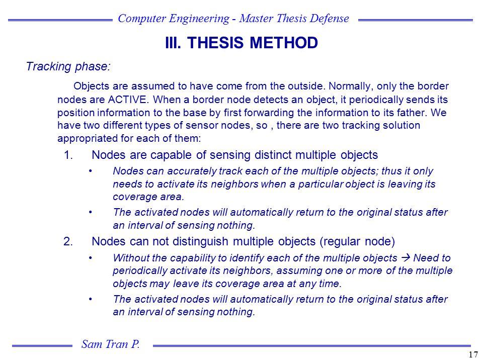 III. THESIS METHOD Tracking phase: