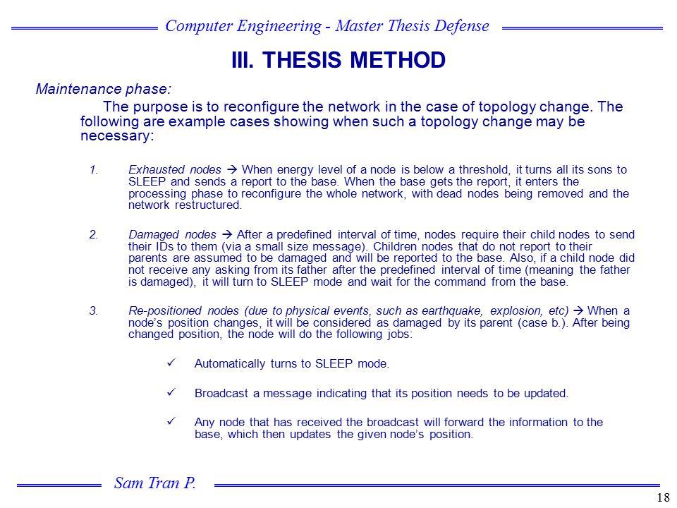 III. THESIS METHOD Maintenance phase: