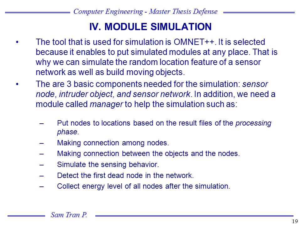 IV. MODULE SIMULATION