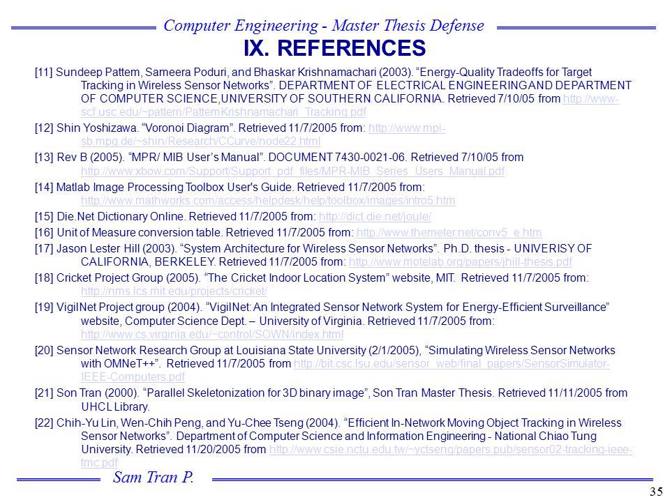 IX. REFERENCES