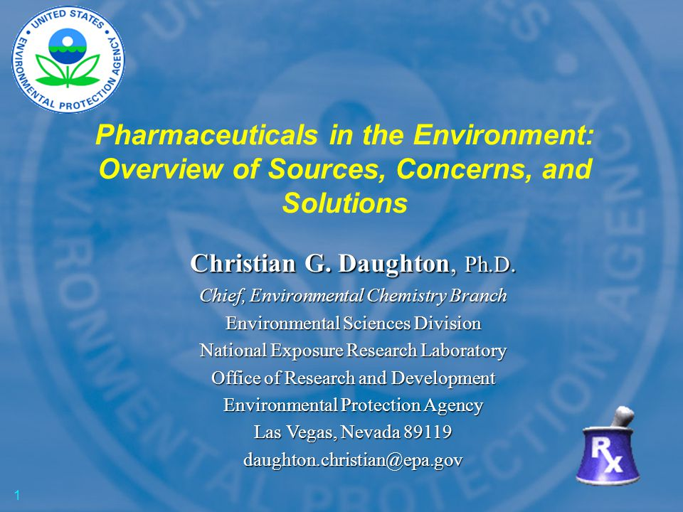 Pharmaceuticals in the Environment: Overview of Sources, Concerns, and Solutions