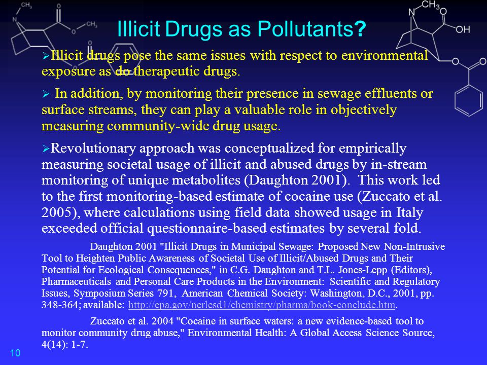 Illicit Drugs as Pollutants