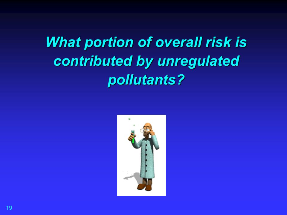 What portion of overall risk is contributed by unregulated pollutants