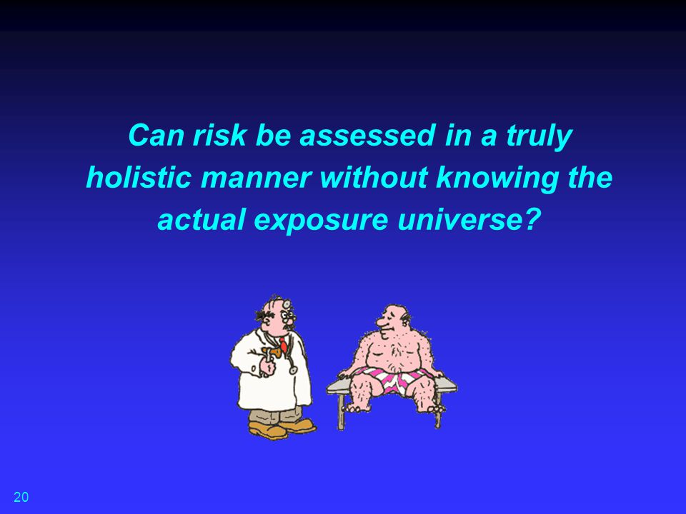 Can risk be assessed in a truly holistic manner without knowing the actual exposure universe
