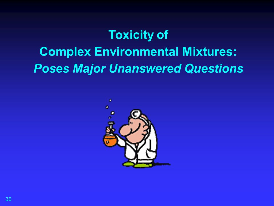 Toxicity of Complex Environmental Mixtures: Poses Major Unanswered Questions