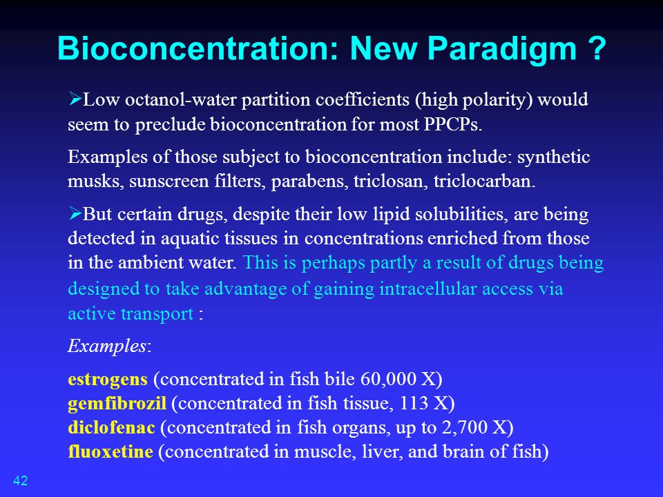 Bioconcentration: New Paradigm