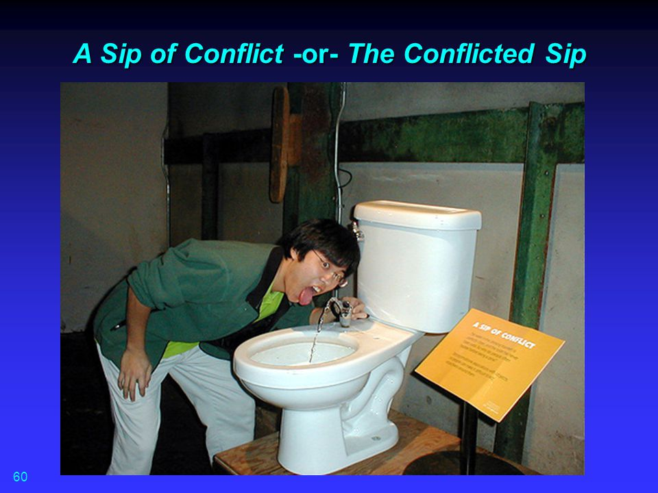 A Sip of Conflict -or- The Conflicted Sip