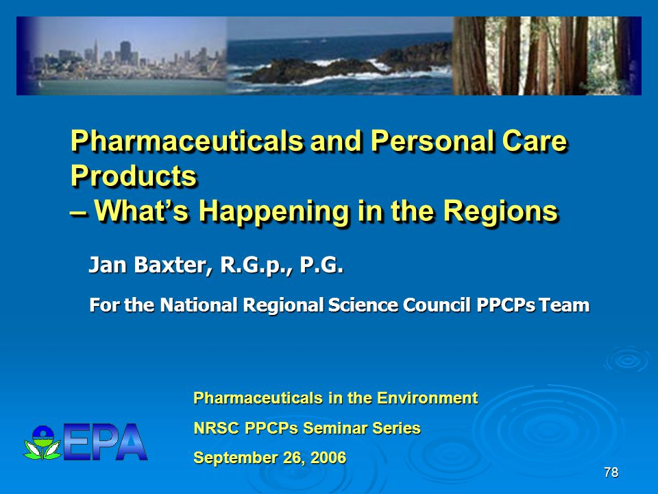 Pharmaceuticals and Personal Care Products – What's Happening in the Regions
