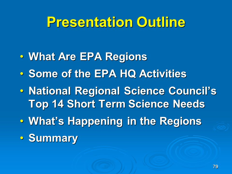 Presentation Outline What Are EPA Regions