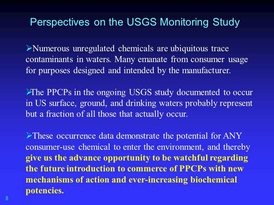Perspectives on the USGS Monitoring Study