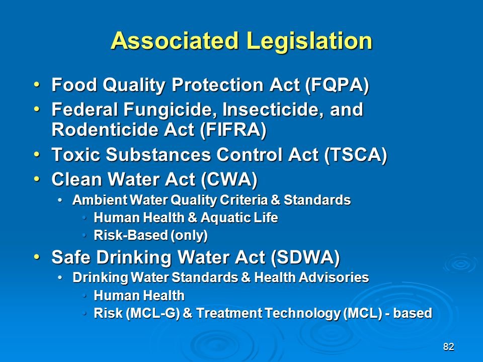 Associated Legislation