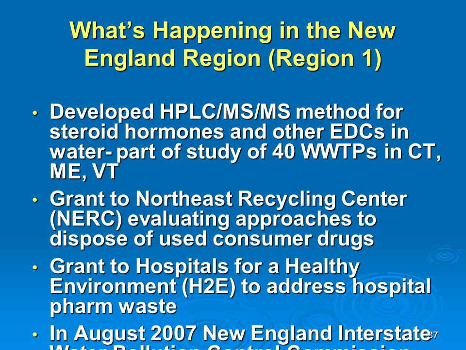 What's Happening in the New England Region (Region 1)