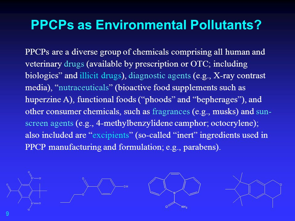 PPCPs as Environmental Pollutants