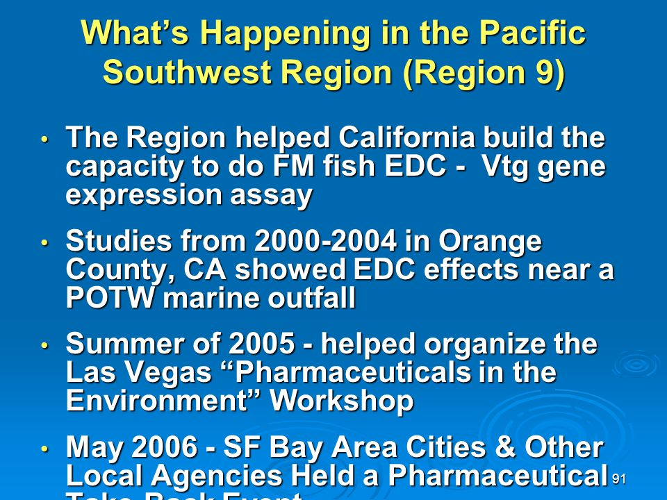 What's Happening in the Pacific Southwest Region (Region 9)
