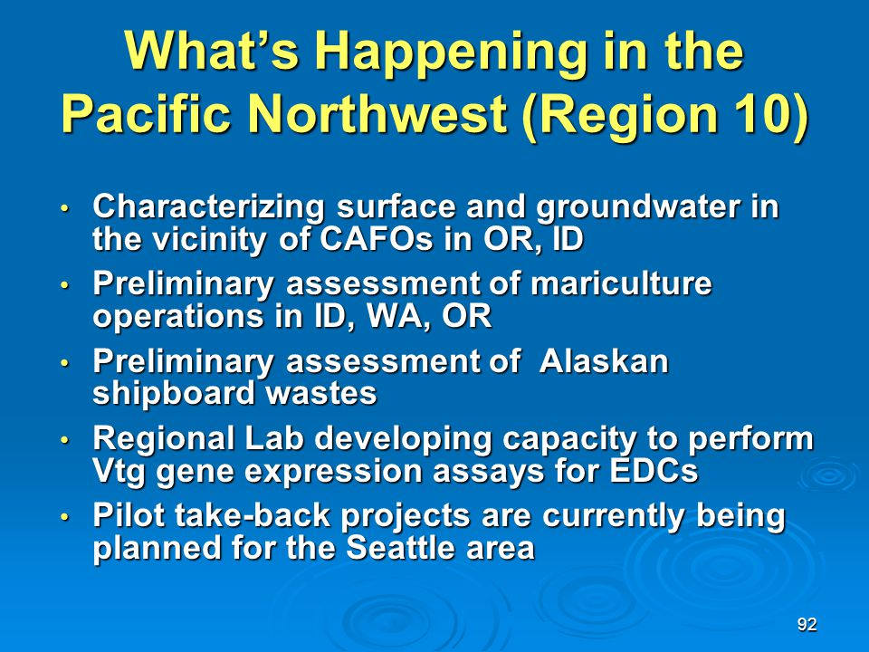 What's Happening in the Pacific Northwest (Region 10)
