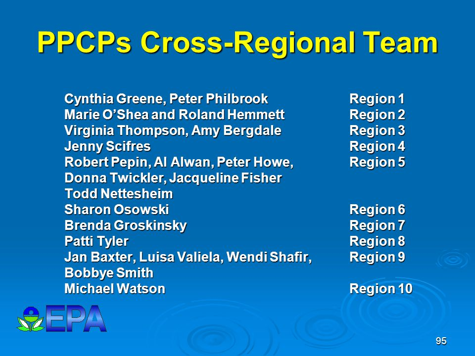PPCPs Cross-Regional Team