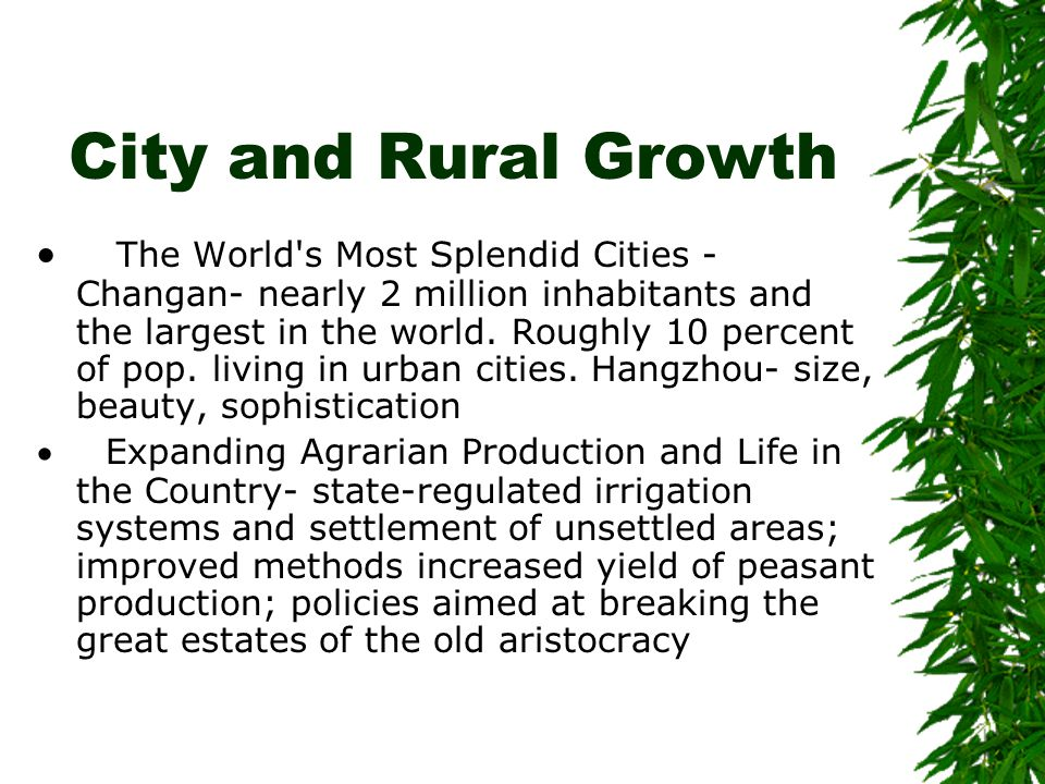 City and Rural Growth