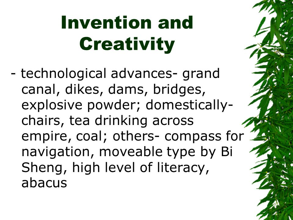 Invention and Creativity