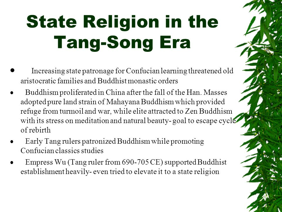 State Religion in the Tang-Song Era