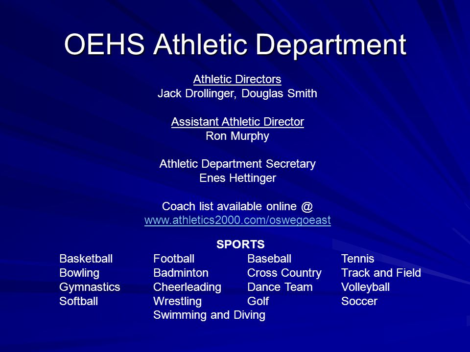 OEHS Athletic Department