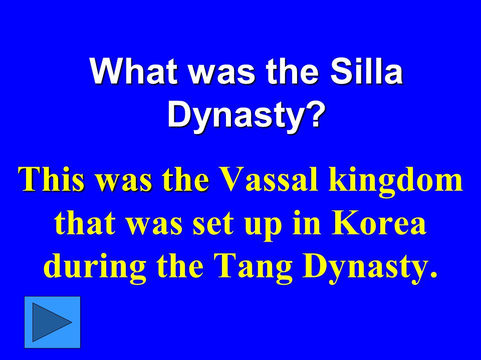 What was the Silla Dynasty