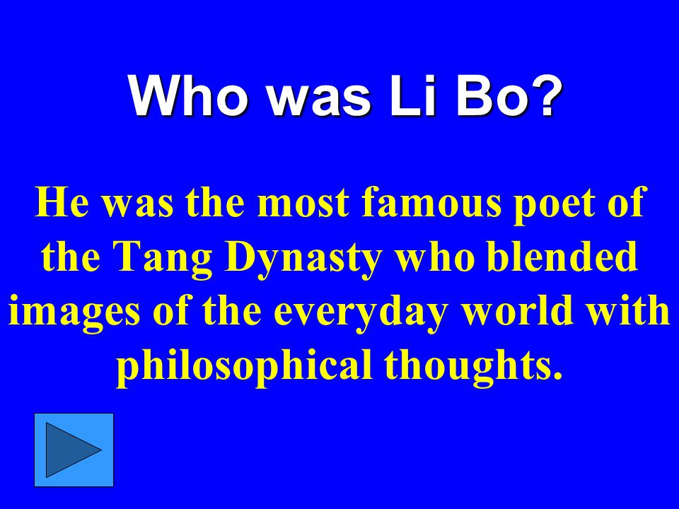 Who was Li Bo.