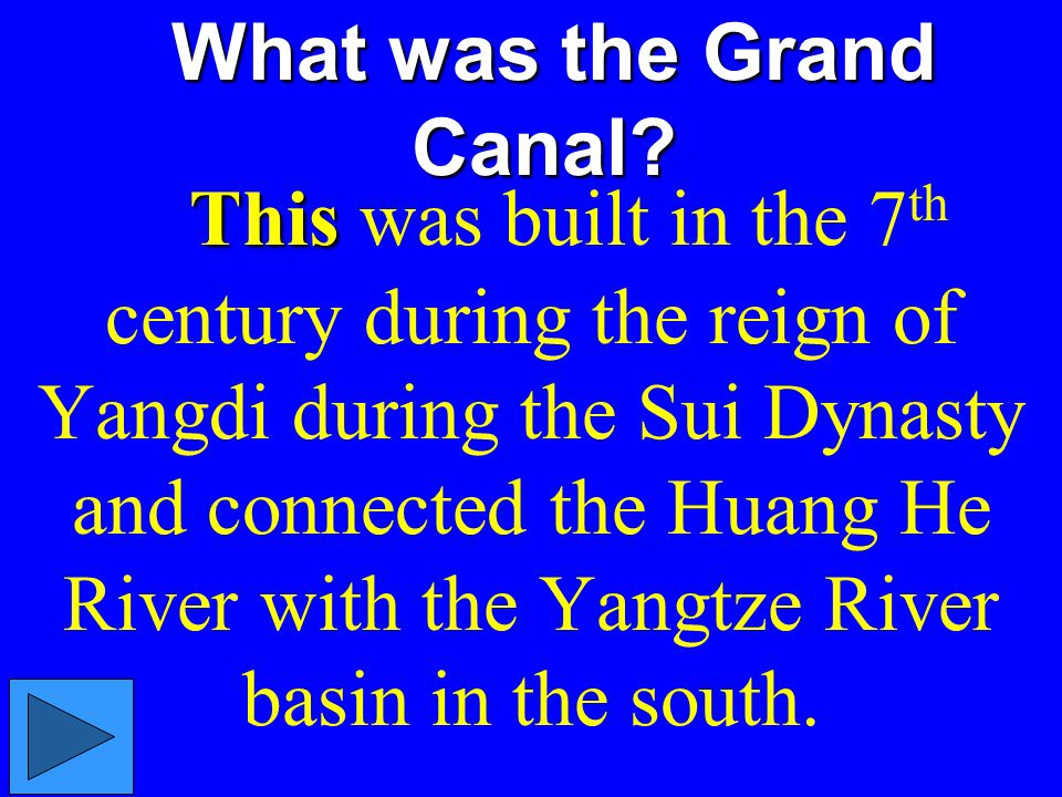What was the Grand Canal
