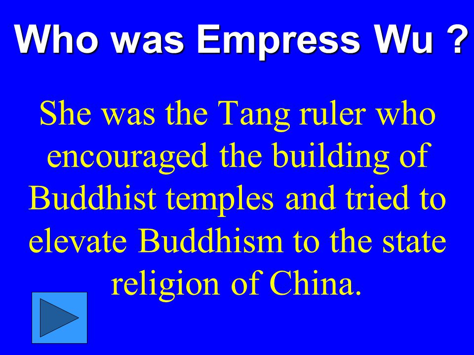 Who was Empress Wu